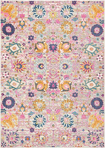 Nourison  Passion Bright Colorful Bohemian Silver Area Rug 6'7