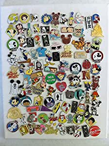 Disney Hidden Mickey Cast Lanyard Collector Badge Pin LOT of 25 Pins NO DOUBLES