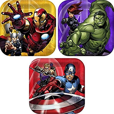 b1f8b3791 Amazon.com: Marvel Avengers Birthday Party Supplies. Marvel Avengers Paper  Plates, Avengers Napkins, Avengers Cups, Avengers Invitations and Avengers  ...