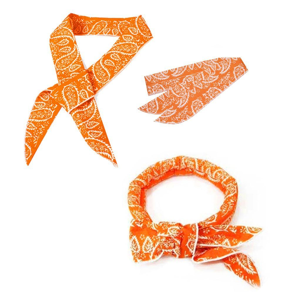 JB JellyBeadZ Brand - Neck Cooling Scarf Wrap, Keep You Cool, Bandana, Orange