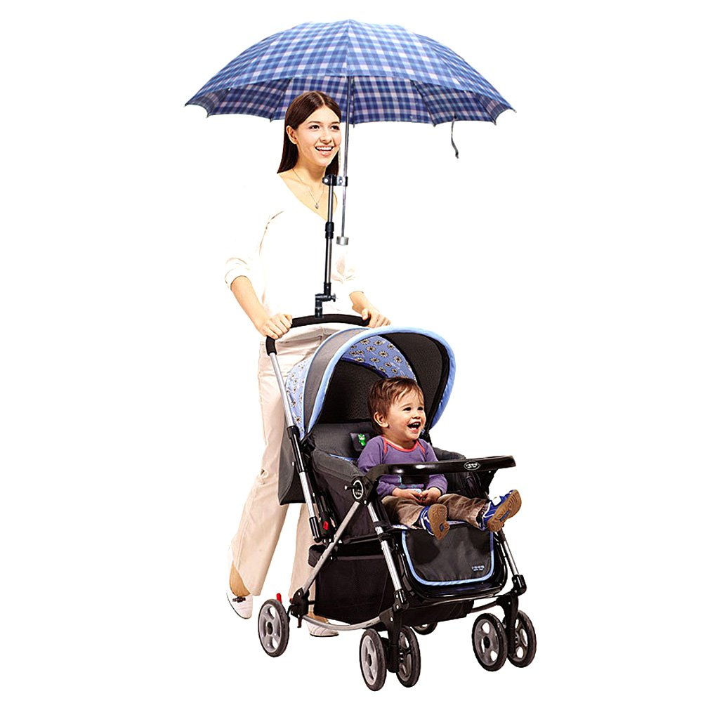 Zcargel Baby Stroller UV Protection Clip-On Umbrella Stand Holder Adjustable Sun Canopy Parasol Holder by Zcargel (Image #2)
