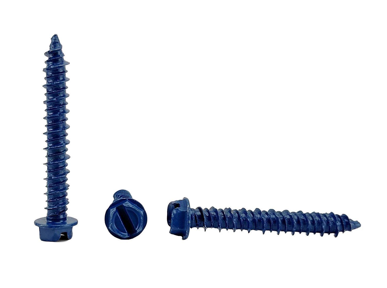 Chenango Supply 1/4 x 1-3/4'' Hex Head Concrete Screw Anchor. 100 pieces With Drill Bit (Miami-Dade Compliant) (1/4 x 1-3/4'')
