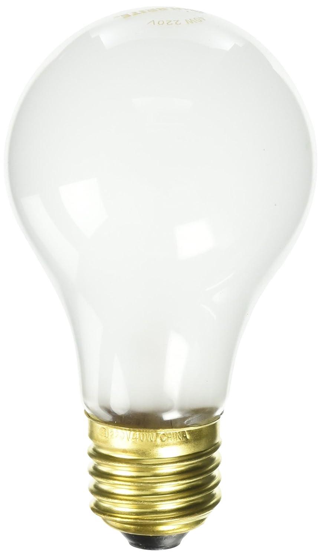 Bulbrite 40A/220 220 Volt 40-Watt High Voltage Incandescent A19 Light Bulb, 2 Pack