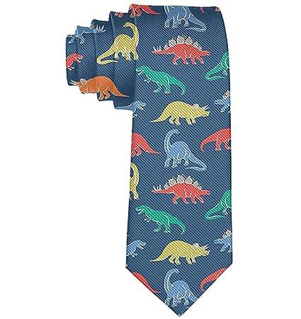 Corbata de dinosaurio de dibujos animados para hombres Fiesta Boda ...