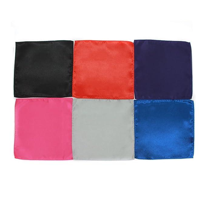 Q4 6 X Pañuelos De Bolsillo De Seda Para Hombres. Conjunto De 6 Coloridos Pañuelos De Bolsillo