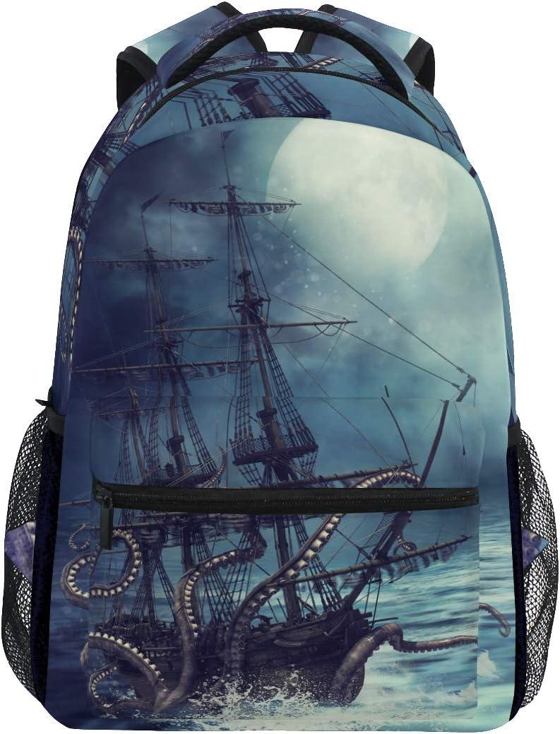 ZZKKO Sea Octopus Marine Computer Backpacks Book Bag Travel Hiking Camping Daypack