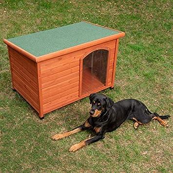 Caseta para Perros Woody con Puerta M: 104 x 66 x 70 cm (An x P x Al): Amazon.es: Productos para mascotas
