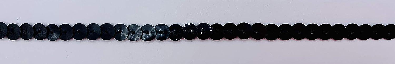 Black 1//4 INCH Slung Sequin 24 Yards