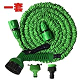 Mokylor 75FT Expandable Garden Hose,Pressure Washer Water Hose,Spray Gun Car Wash Pipe with 7-way Spray Nozzle,Solid Aluminium Connectors for Car Wash Cleaning Watering Lawn Garden Plants