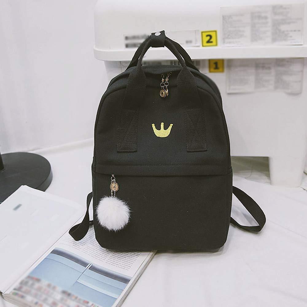 Amazon.com: Girl Hairball Canvas School Bag Student Backpack Satchel Travel Shoulder Bag Lightweight Backpack for Women Men Hot Sale Clearance: Arts, ...