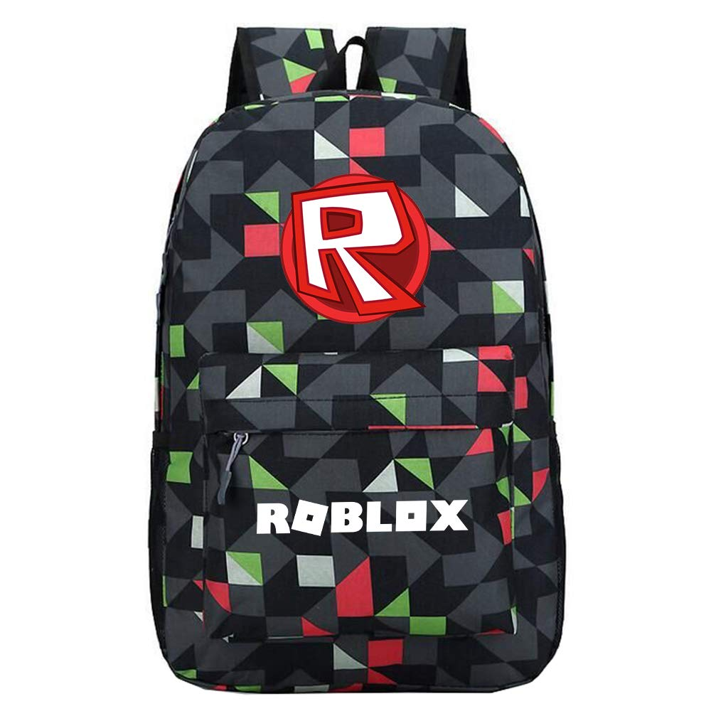 Roblox Mochila Casual Mochila Escolar Mochila Casual Senderismo Bolsa de Viaje Bolsa de Viaje Impreso Daypack Unisex (Color : Black03, Size : 30 X 13 X 43cm)