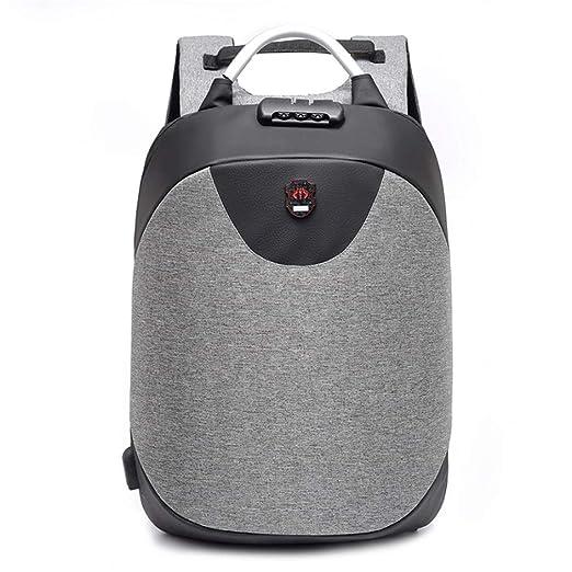 Mens College Anti-Theft Backpack Business Travel Leisure Laptop Backpack Nylon Waterproof Password Lock Backpack