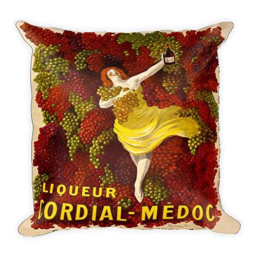 Vintage poster - Liqueur Cordial-Medoc 1695 - Square Pillow Case w/stuffing Cordial Bath