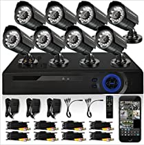 GOWE HD 8CH CCTV System 1080P DVR 8PCS 720P 1200TVL IR Outdoor Video Surveillance Security Camera System 8 channel CCTV Kit