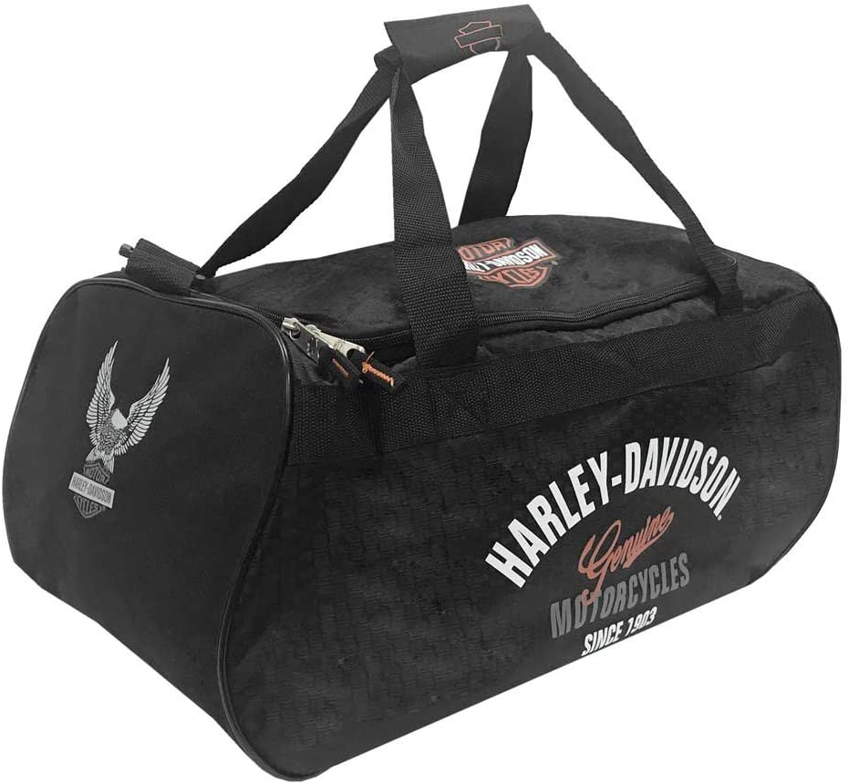 Harley Davidson Logo Sport Duffel Tail of The Dragon Bag, Black, One Size