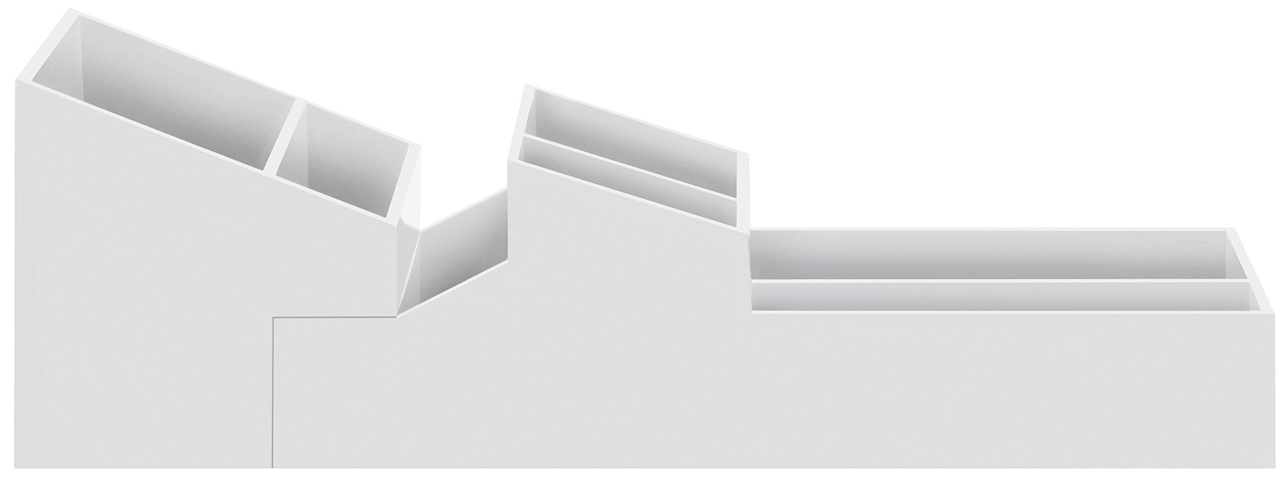 Spirella 10.19174Skyline White 7Litre 2-Piece Bathroom Accessory, Plastic, White, 8/5x 30cm
