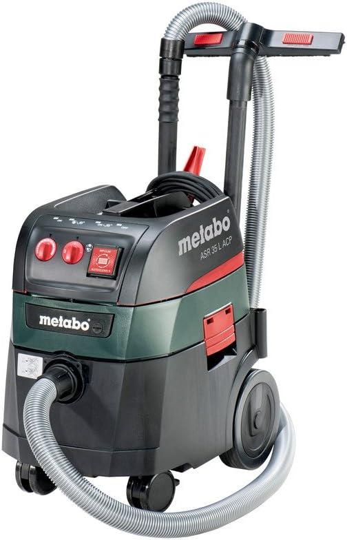 Metabo 6.02055.00 602057000-Aspirador para seco y húmedo ASR 35 L ACP 1400W depósito 35 litros, 1400 W, 0 V, Negro, Verde: Amazon.es: Bricolaje y herramientas