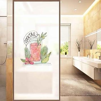 MI-RAN J PVC-undurchlässige Mattglas-Aufkleber-Fenster-Badezimmer ...