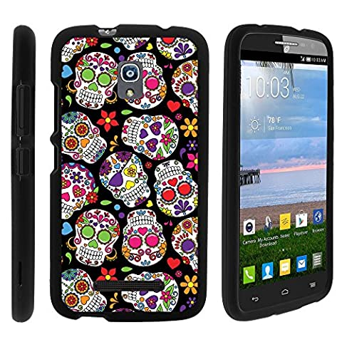 Alcatel One Touch Pop Mega A995G Phone Case, Full Body Perfect Fit Snap on Hard Cell Phone Cover Intense Skull Design Collection by Miniturtle® - Sugar Skull (Alcatel A995g Lte Phone Cover)