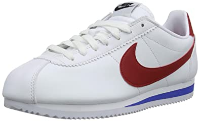 uk availability 297e6 344cc Nike Women Classic Cortez Leather White Varsity red-Varsity Royal Size 5.0  US