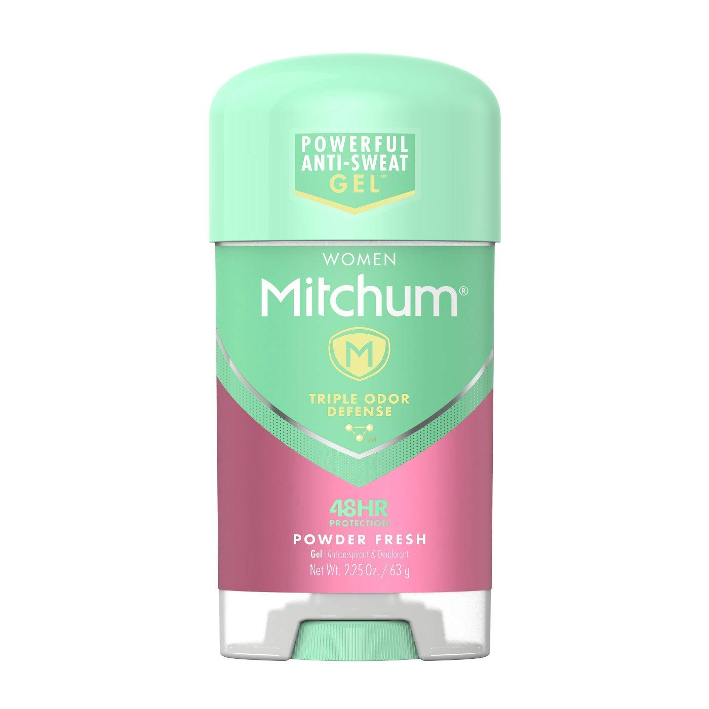 Lady Mitchum Oxygen Odor Control Antiperspirant & Deodorant, Powder Fresh 2.25 oz (Pack of 6) - Packaging May Vary