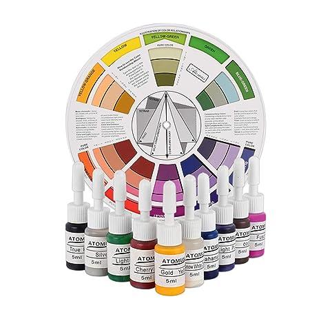 SUPVOX Tinta de Tatuaje Profesional Set Botella de Pigmento de ...