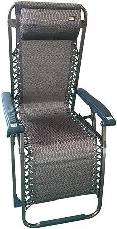 BAIYIQW Silla de Gravedad,Silla Gravedad Cero,Tumbona Plegable Jardín,Sillón reclinable dúplex, sillón reclinable de Descanso para el Almuerzo teslin: Amazon.es: Hogar