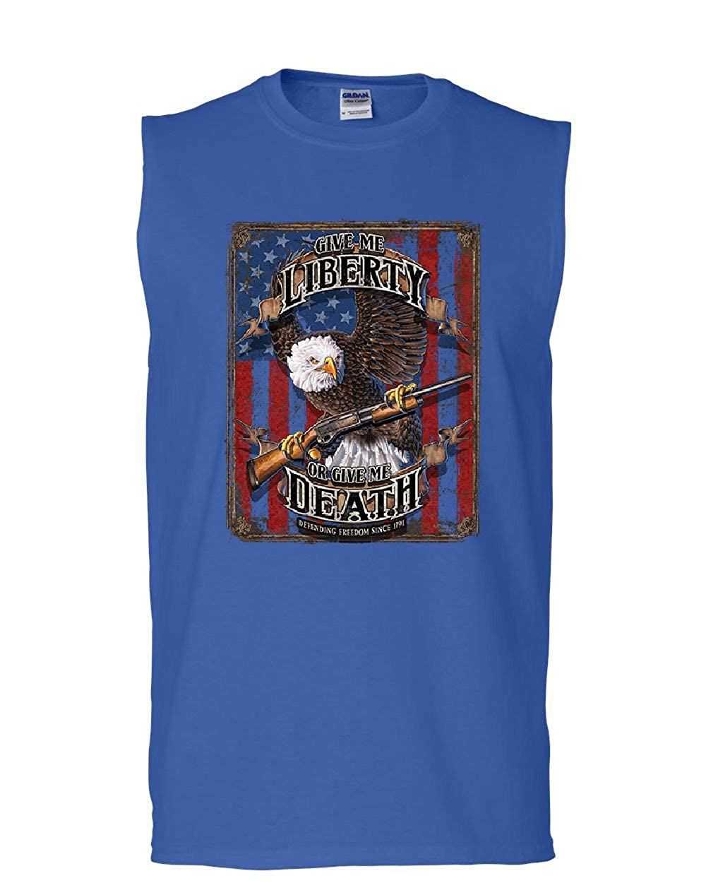 Give Me Liberty Give Me Death Muscle Shirt Eagle Defend Freedom 2A Sleeveless