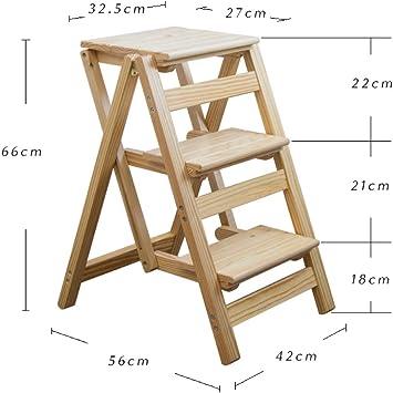 STEP STOOL Taburete Pequeño Taburete Paso de Heces de Madera Maciza Taburete Escalera Taburete Plegable Las Escaleras Heces Pedales Párraf: Amazon.es: Bricolaje y herramientas
