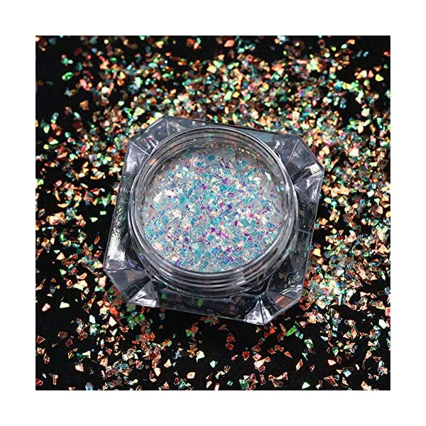 NICOLE DIARY 5 Boxes Holographic Nail Sequins Iridescent Flakes Colorful Glitter Manicure Nail Art Design Make Up DIY Decals Decoration 10