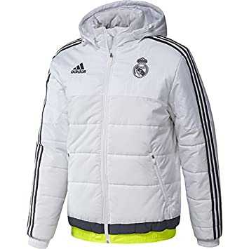 adidas Real Madrid Padded Chaqueta, Hombre, (White/Deepest Space F10 / Solar