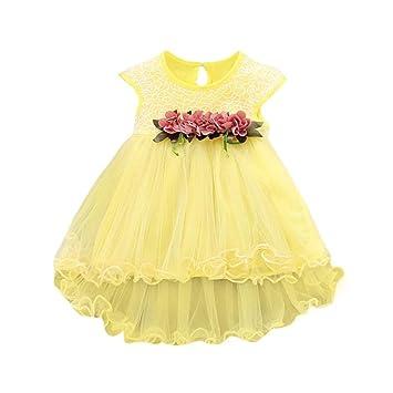 Vestidos bebé niña ❤ Amlaiworld Vestido floral de verano para niñas pequeñas Vestido de fiesta