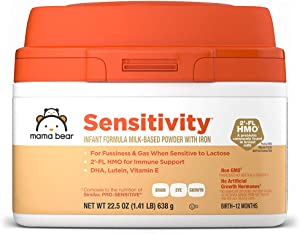 Amazon Brand - Mama Bear Sensitivity Milk-Based Powder Infant Formula with Iron, 22.5 Ounces