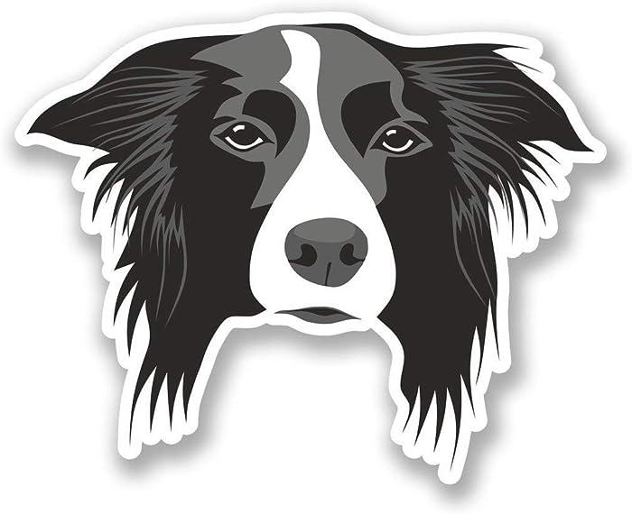 "Border Collie Dog Vinyl Sticker Decal Laptop Car Bumper Sticker Travel Luggage Car iPad Sign Fun 5"""