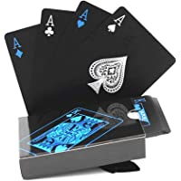 mundoGadget Naipes Baraja De Poker Plasticas A Prueba De Agua Negras