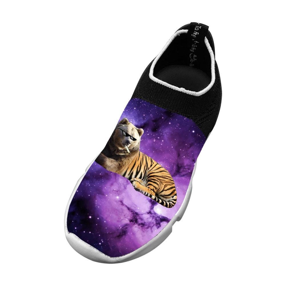 Space Bear Tiger New Style Fly Knit Shoes Kids Casual Sports Sneakers