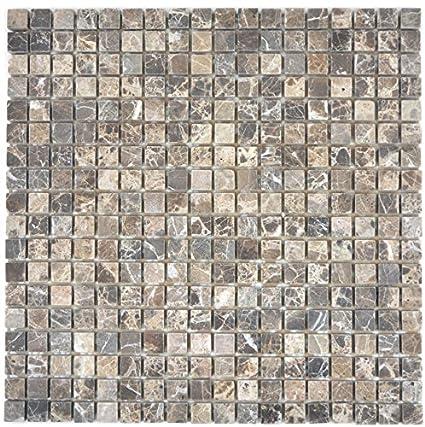 Mosaico Marmo pietra naturale beige castanao per piastrelle per ...