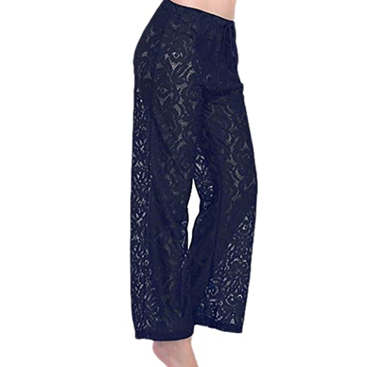 54f9acc9c5f63 Image Unavailable. Image not available for. Color: WOCACHI Women Yoga Pants  Dance Swimsuit Sexy Lace ...