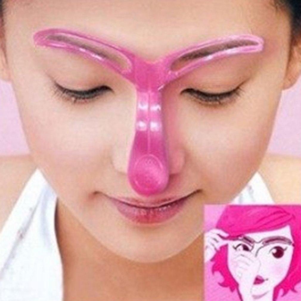 Westeng 3pcs Plastic Eyebrow Model Grooming Stencil Kit Brow Drawing