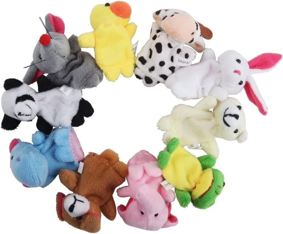 Isuper Marionetas con Dedos Marionetas Suaves con Dedos Marionetas 10/Piezas