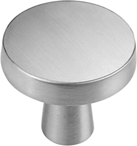 goldenwarm Modern Dresser Knobs Brushed Nickel Cabinet Door Knobs - LS5310SNB Silver Furniture Hardware Decorative Bedroom Hardware Bathroom Cabinet Door Hardware, 20Pcs, Zinc Alloy