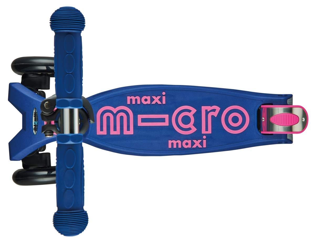 Micro Maxi Deluxe, Patinete 3 Ruedas, 5-12 Años, Carga Máx 70kg, Peso 2,5kg (Indigo)