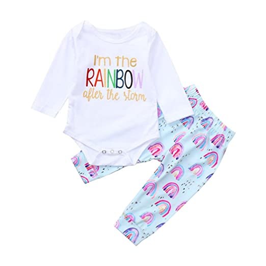 8bd2c536b88 Amazon.com  Pollyhb Baby Girl Boy Clothes Set
