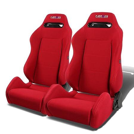 Amazon.com: NRG RSC-200-NRG Type-R Universal Racing Seats With Red ...