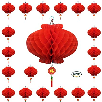 Amazon 20 Pack 79 Chinese Red Lanterns For New Year
