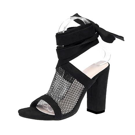 c8bd7617a80 Amazon.com  Chunky Heel Sandals