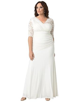 Kiyonna Women s Plus Size Elegant Aisle Wedding Gown at Amazon ... 90942fe06