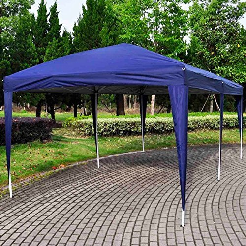 Giantex 10'x20' Ez POP up Wedding Party Tent Folding Gazebo Beach Canopy W/carry Bag (Blue)