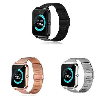 Voiks Smartwatch, Reloj Inteligente Android/iOS con Ranura para Tarjeta SIM,Pulsera Actividad Inteligente para Deporte, Reloj Iinteligente Hombre Mujer ...