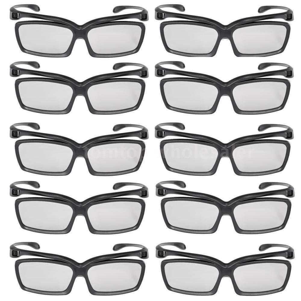 FidgetFidget 3D Glasses Circular Polarized Passive Lens New Theater 10pcs